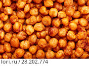 Купить «Spicy baked chickpeas. A moreish vegan snack, flavoured with smoked paprika, cumin and coriander.», фото № 28202774, снято 15 марта 2018 г. (c) Евгений Глазунов / Фотобанк Лори