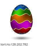 Купить «Multicolored Easter egg», иллюстрация № 28202782 (c) Сергей Лаврентьев / Фотобанк Лори