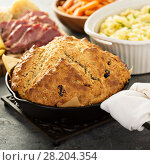 Купить «Irish soda bread», фото № 28204354, снято 9 марта 2018 г. (c) Елена Веселова / Фотобанк Лори