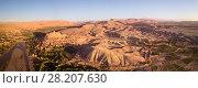 Aerial panorama of Ait Ben Haddou in Morocco (2018 год). Стоковое фото, фотограф Михаил Коханчиков / Фотобанк Лори
