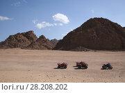 Квадрациклы в пустыне Египта (2008 год). Стоковое фото, фотограф Скалдина Мария / Фотобанк Лори