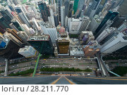 Купить «Skyscrapers and buildings in Hong Kong city, China at summer, aerial view from China Resources Building», фото № 28211770, снято 1 сентября 2015 г. (c) Losevsky Pavel / Фотобанк Лори