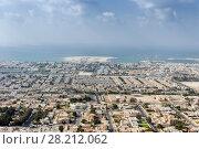 La Mer area and Jumeirah area, sea shore far away in Dubai resort, UAE (2017 год). Стоковое фото, фотограф Losevsky Pavel / Фотобанк Лори