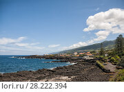 Купить «Azores, the shore of the ocean in the town of San Roque do Pico», фото № 28222394, снято 2 мая 2012 г. (c) Юлия Бабкина / Фотобанк Лори