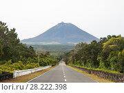 Купить «Direct asphalt road to the volcano Pico, Pico island, Azores», фото № 28222398, снято 5 мая 2012 г. (c) Юлия Бабкина / Фотобанк Лори