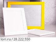 Frame photo white and yellow. Стоковое фото, фотограф Гужва / Фотобанк Лори