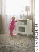 Купить «Baby eight months», фото № 28224494, снято 6 февраля 2018 г. (c) Типляшина Евгения / Фотобанк Лори