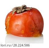 Купить «Spoiled rotten persimmon fruit isolated on white», фото № 28224586, снято 20 декабря 2017 г. (c) Сергей Молодиков / Фотобанк Лори