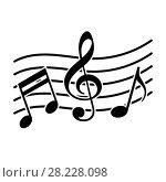 Купить «Signs of a musical notation», иллюстрация № 28228098 (c) Сергей Лаврентьев / Фотобанк Лори