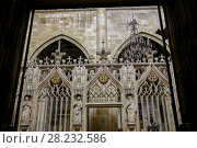 Saint-Pierre Cathedral, Condom. Le Gers Department, New Aquitaine, Midi Pyerenees. France Europe. Стоковое фото, фотограф Jerónimo Alba / age Fotostock / Фотобанк Лори