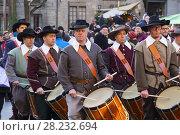 Купить «Fête de l'Escalade. Traditional festival Escalade ceremony is held every year on December 11th and 12th, Old town, historic center. Geneva. Switzerland, Europe.», фото № 28232694, снято 9 декабря 2017 г. (c) age Fotostock / Фотобанк Лори