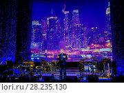 """Купить «Сергей Жилин перед концертом """"Фонограф-Джаз-Бэнд"""" в Центральном доме Кино. Москва», фото № 28235130, снято 9 марта 2018 г. (c) Владимир Устенко / Фотобанк Лори"""