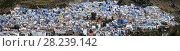 Купить «Panorama of blue city Chefchaouen», фото № 28239142, снято 17 февраля 2018 г. (c) Михаил Коханчиков / Фотобанк Лори