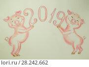 Купить «Поздравление с новым 2019 годом», фото № 28242662, снято 10 марта 2018 г. (c) Инга Прасолова / Фотобанк Лори