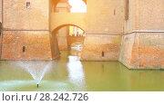 Купить «Este castle (Castello Estense) in Ferrara, Italy», видеоролик № 28242726, снято 20 декабря 2017 г. (c) BestPhotoStudio / Фотобанк Лори