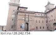 Купить «Este castle (Castello Estense) in Ferrara, Italy», видеоролик № 28242734, снято 24 ноября 2017 г. (c) BestPhotoStudio / Фотобанк Лори