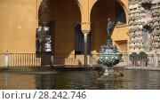 Купить «Alcazar Gardens in Seville, Andalusia, Spain», видеоролик № 28242746, снято 28 января 2017 г. (c) BestPhotoStudio / Фотобанк Лори