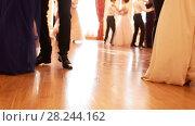 Купить «Legs of dancing young people in the vintage costumes at the historical ball», видеоролик № 28244162, снято 22 июля 2019 г. (c) Константин Шишкин / Фотобанк Лори