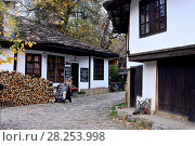 Купить «Traditional houses and street of Bojentsi, Bulgaria.», фото № 28253998, снято 22 октября 2017 г. (c) age Fotostock / Фотобанк Лори