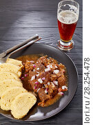 hot Czech beef goulash on plate. Стоковое фото, фотограф Oksana Zh / Фотобанк Лори