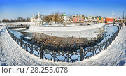 Купить «Уточки в Сергиевом Посаде. Ducks swim in the water  in Sergiev Posad», фото № 28255078, снято 3 марта 2018 г. (c) Baturina Yuliya / Фотобанк Лори