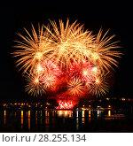 Купить «Celebratory bright firework», фото № 28255134, снято 8 августа 2015 г. (c) ElenArt / Фотобанк Лори
