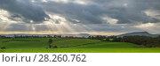 Купить «Panoramic landscape of Monmouthshire, Wales, UK, October 2017.», фото № 28260762, снято 20 июля 2018 г. (c) Nature Picture Library / Фотобанк Лори