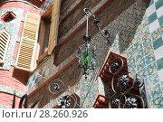 Купить «Casa Vicens is a house in Barcelona, designed by Antoni Gaudí», фото № 28260926, снято 31 марта 2018 г. (c) Ольга Визави / Фотобанк Лори