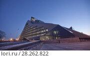 Купить «Night Riga city winter timelapse, lights, bridge, Daugava river», видеоролик № 28262822, снято 28 ноября 2017 г. (c) Aleksejs Bergmanis / Фотобанк Лори