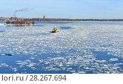 Купить «Spring in Helsinki. Gulf of Finland», фото № 28267694, снято 28 марта 2018 г. (c) Валерия Попова / Фотобанк Лори