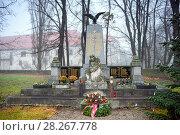 Купить «Мемориальный комплекс, посвященный солдатам, павшим в Первой и Второй Мировой Войне. Гунтерсдорф, Нижняя Австрия.», фото № 28267778, снято 28 декабря 2017 г. (c) Bala-Kate / Фотобанк Лори
