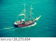 Купить «two-mast saiship», фото № 28273654, снято 8 июля 2016 г. (c) Яков Филимонов / Фотобанк Лори