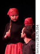 Спектакль в Ногинском театре драмы и комедии (2017 год). Редакционное фото, фотограф Дмитрий Неумоин / Фотобанк Лори