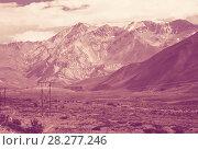 Купить «View of Andes mountains, Valle Hermoso», фото № 28277246, снято 9 февраля 2017 г. (c) Яков Филимонов / Фотобанк Лори