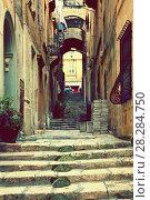 Купить «Old street of Valletta. Malta», фото № 28284750, снято 17 декабря 2010 г. (c) Яков Филимонов / Фотобанк Лори