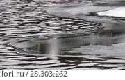 Купить «Video of water ripples and edge of an ice floe on Altai river Biya in Spring season», видеоролик № 28303262, снято 16 марта 2018 г. (c) Serg Zastavkin / Фотобанк Лори