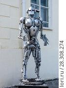 """Купить «""""Железный человек"""", скульптура возле музея Современного искусства, город Пермь», фото № 28308274, снято 6 июня 2009 г. (c) Александр  Буторин / Фотобанк Лори"""