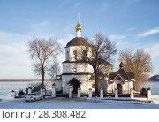 Купить «Старинная церковь Константина и Елены. Свияжск», фото № 28308482, снято 5 января 2018 г. (c) Юлия Бабкина / Фотобанк Лори