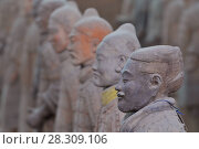 Купить «The Terracotta Army is a collection of terracotta sculptures depicting the armies of Qin Shi Huang, the first Emperor of China», фото № 28309106, снято 27 марта 2019 г. (c) BE&W Photo / Фотобанк Лори