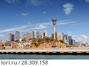 View from the arriving ferry on the Barangaroo and Dawes Piont districts in Sydney, Australia. Стоковое фото, агентство BE&W Photo / Фотобанк Лори