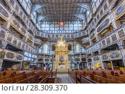 Купить «Interior of magnificently decorated wooden Protestant Church of Peace in Jawor, UNESCO World Cultural Heritage, Poland», фото № 28309370, снято 17 июля 2018 г. (c) BE&W Photo / Фотобанк Лори