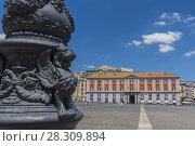 Купить «Palazzo Salerno in Piazza del Plebiscito, Naples, Campania, Italy», фото № 28309894, снято 25 мая 2019 г. (c) BE&W Photo / Фотобанк Лори
