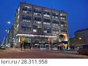 Купить «Москва, здание ИТАР-ТАСС на Тверском бульваре», эксклюзивное фото № 28311958, снято 3 марта 2018 г. (c) Dmitry29 / Фотобанк Лори