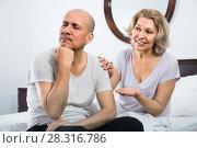 Купить «Mature girl supporting frustraited boyfriend», фото № 28316786, снято 21 мая 2018 г. (c) Яков Филимонов / Фотобанк Лори