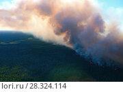 Купить «Лес горит, вид сверху», фото № 28324114, снято 12 июля 2007 г. (c) Владимир Мельников / Фотобанк Лори