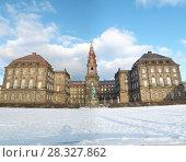 Купить «Датский замок Кристиансборг. Дания, Копенгаген», фото № 28327862, снято 6 февраля 2012 г. (c) Яковлев Сергей / Фотобанк Лори