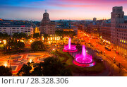 Купить «Square of Catalonia», фото № 28328306, снято 19 мая 2017 г. (c) Яков Филимонов / Фотобанк Лори