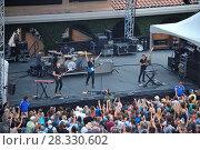 Купить «Atlas Genius perform on the Trestles stage during the 2016 KAABOO Del Mar music festival at the Del Mar Racetrack in Del Mar, California. Featuring: Atlas...», фото № 28330602, снято 18 сентября 2016 г. (c) age Fotostock / Фотобанк Лори