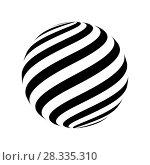 Купить «Abstract striped spheres», иллюстрация № 28335310 (c) Сергей Лаврентьев / Фотобанк Лори
