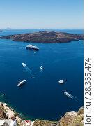 Top view of the Caldera from Santorini, Greece (2017 год). Стоковое фото, фотограф Наталья Волкова / Фотобанк Лори